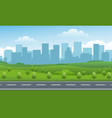 empty road valley urban background vector image