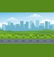 empty road valley urban background vector image vector image