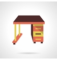 Empty work table flat color design icon vector image
