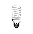 Energy saving light bulb glowing icon fluorescent vector image vector image