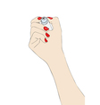 Female hand drawing with a marker vector image vector image