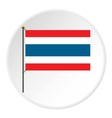 Flag of Thailand icon flat style vector image vector image
