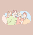 friendship making photo concept vector image vector image