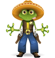frog sheriff vector image vector image