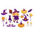 halloween party costume of little girl vector image