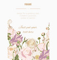 hand drawn summer vintage golden bouquet vector image vector image