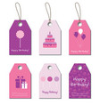 Happy Birthday tags labels vector image vector image