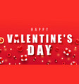 happy valentine day horizontal composition bright vector image vector image