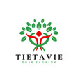 health spiritual logo with letter t vector image vector image