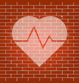 heartbeat sign whitish icon vector image vector image