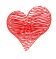 isolated valentine heart vector image
