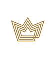 king crown line outline monoline four logo icon vector image