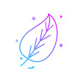 leaf icon design vector image vector image