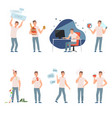 lifestyle problems people in a bad images and vector image vector image