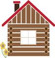 Log Cabin vector image vector image