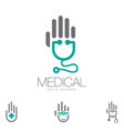 medical help and treatment symbol set vector image vector image