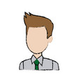Profile man character business employee cartoon