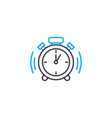 punctuality thin line stroke icon vector image vector image
