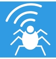 Radio spy bug icon from Business Bicolor Set vector image vector image