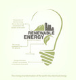 renewable energy of earth in bulb concept vector image vector image