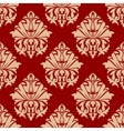Retro damask style arabesque pattern vector image vector image