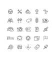 Road and auto line icons vector image vector image