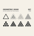 set eight minimalistic trendy shapes stylish vector image