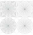 set of patterns with spider web and drops vector image vector image