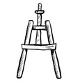 sketch a easel on white background vector image