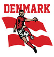 soccer player of denmark vector image vector image