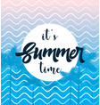 summer time poste with palm web banner vector image vector image