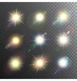 Sunshine Design Elements Icon Set vector image vector image