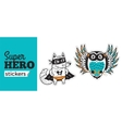 Super Hero stickers vector image vector image