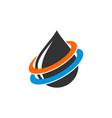 swoosh drop water logo template design vector image vector image