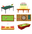 table games concept and different sporting vector image vector image