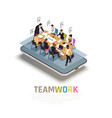 teamwork collaboration isometric composition vector image
