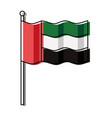 united arab emirates flag vector image vector image
