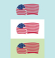 us flag with eagle on various backgrounds vector image vector image