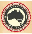 vintage label-sticker cards australia vector image