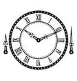 vintage watch dial with arrows vector image vector image