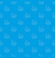 volumetric flask pattern seamless blue vector image vector image