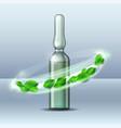 whirlwind green leaves swirls around vector image vector image