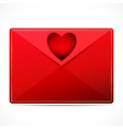 A love letter with a heart image vector image vector image