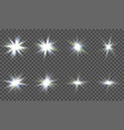 a set of light effects for design each element in vector image vector image