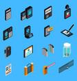 access identification isometric icons