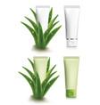 aloe vera cosmetic packaging - vector image vector image