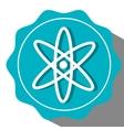 Atom round icon vector image vector image