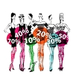 Banner - discount sale Fashion vector image vector image