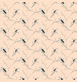 birds on branches light pink cute pattern seamless vector image vector image