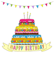 birthday cake garland vector image